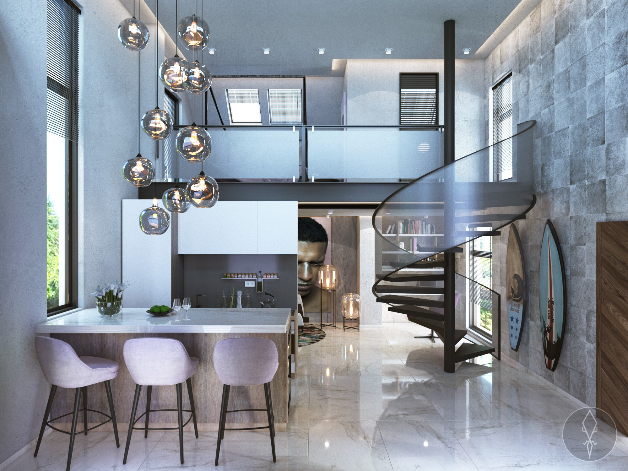 Raw Interiors Marbella : 60m2 house with mezzanine floor alicante interior design