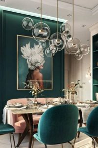 interior style green dining